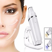 Heated Eyeic Eye Massager Wand, Vibrating Massage Galvanic Wand untuk Lingkaran Hitam dan Puffiness Mata, Anti-Agei Isi Ulang
