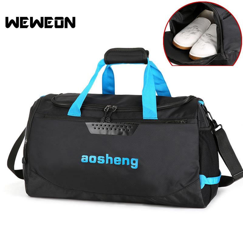 Water Repellent Gym Sports Bag Men Women Fitness Training Bag with Shoes Pocket Travel Luggage Bolsa Shoulder Handbag Gym Bag motorcycle tank bag sports helmet racing motobike backpack magnet luggage travel bag water resistance