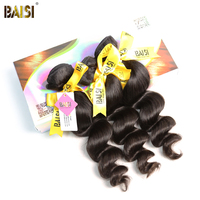 BAISI Hair,Indian Loose Wave 100% Human Hair Virgin Hair 3Pcs/Lot,Natural Color,8 28inches Free Shipping