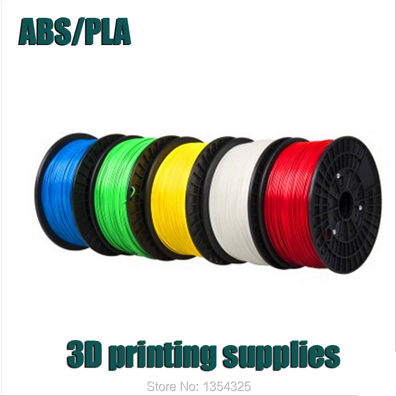 HIGH QUALITY 3D PRINTER FILAMENT PLA ABS 1.75MM 3MM Consumables 6 COLORS Hot sale