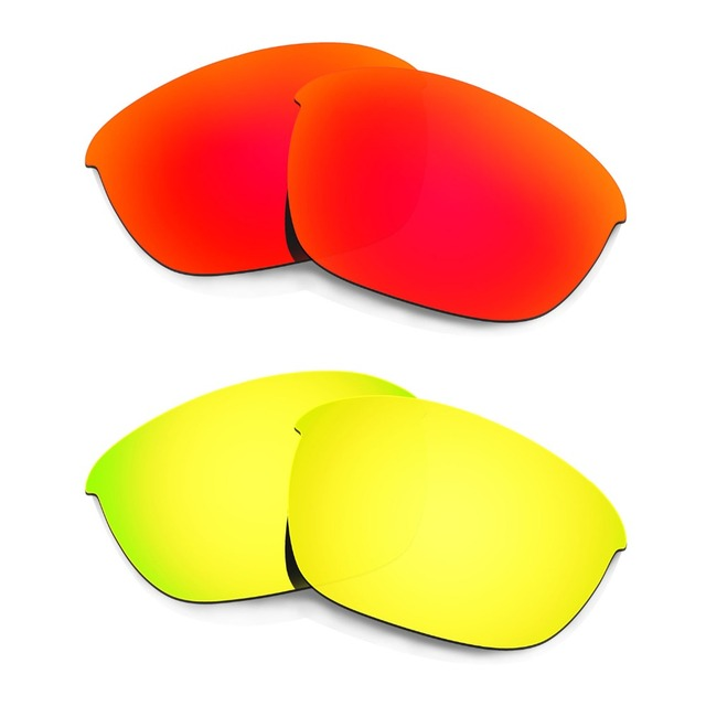 fe483e7dadbd8 2 Pairs HKUCO For Half Jacket 2.0 Polarized Replacement Lenses--Red   24K  Gold