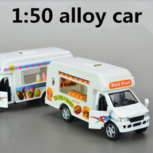 1:50 alloy toy vehicles, metal diecasts, high simulation ice cream wagons, Pull back Toy Vehicles, free shipping