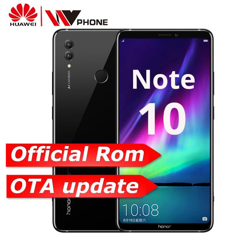 Huawei Honor Примечание 10 Dual SIM дюймов 8,1 дюймов Android 6,95 отпечатков пальцев ID NFC 5000 мАч батарея Кирин 970 Octa core мобильный телефон