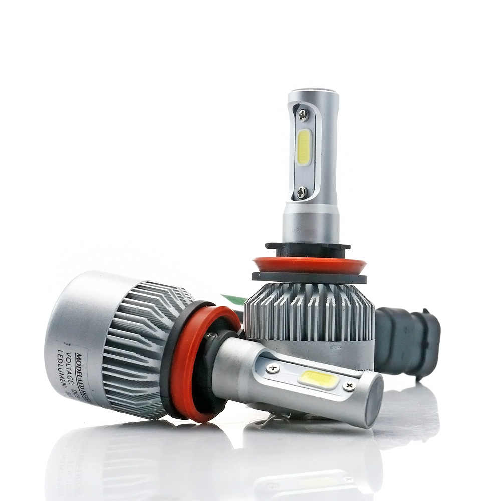 Elglux 2PCS 72W 8000LM 6500K H4 H1 H3 Turbo LED Car Headlight H7 H8 H9 H11 H27/880/881 9005 HB3 9006 HB4 9007 Led Fog Light Bulb