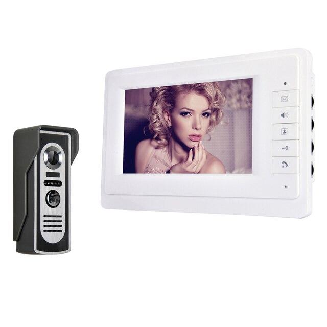 """7"""" TFT Color Video Door Phone Intercom Doorbell System Kit IR Camera Doorphone Monitor Speaker Door Bell Intercom"""