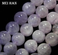 Free Shipping New Fashion Natural Strand Of 10mm Purple Jade Round Loose Beads DIY Semi Precious