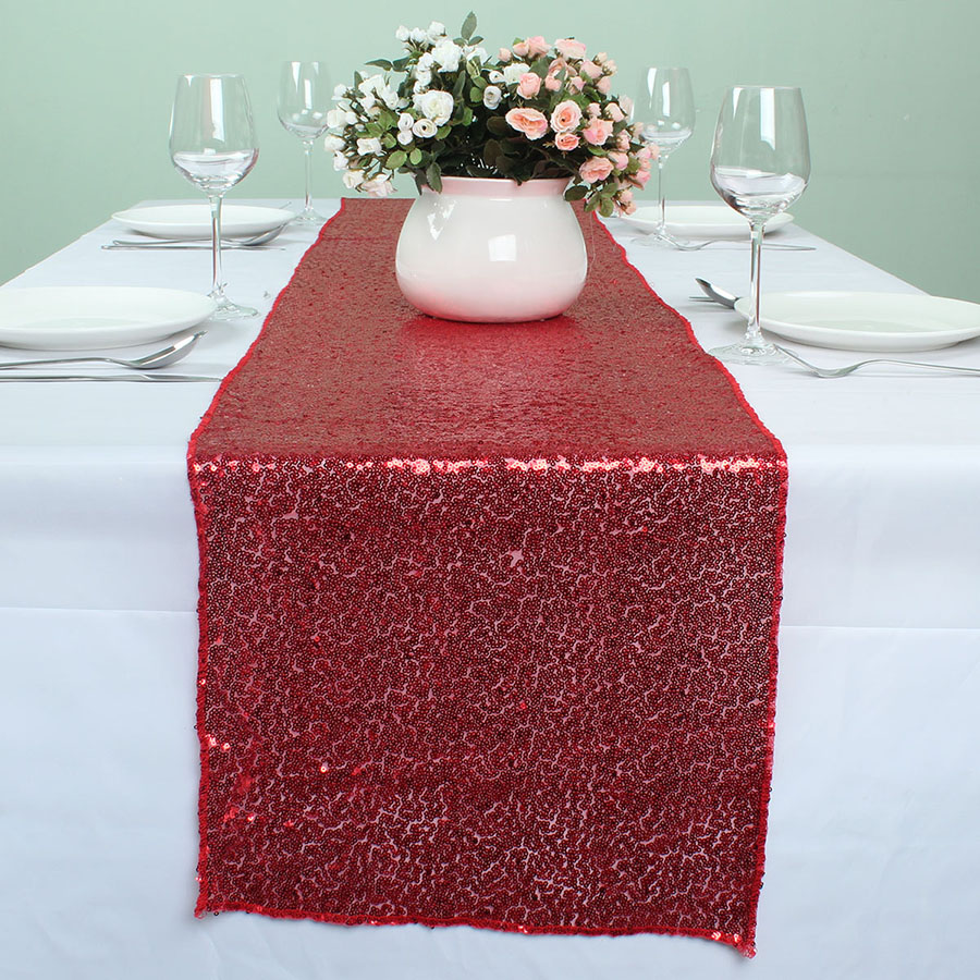 Bamboo black table runner 72 inches checkered kitchen linen dining - 12 X 108 Red Glitter Embroidered Sequin Table Runners For Wedding Event Party Banquet