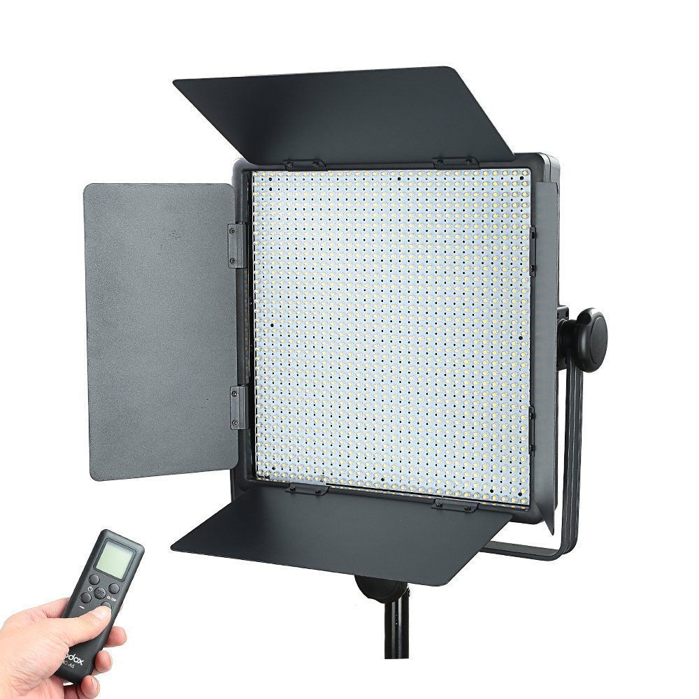 Godox LED1000Y Studio Video Continuous Light Lamp For Camera DV Camcorder 3300K changeable version godox 3x 1000 led photo studio video continuous light kit for camera camcorder dv wedding fashion 3300 5600k