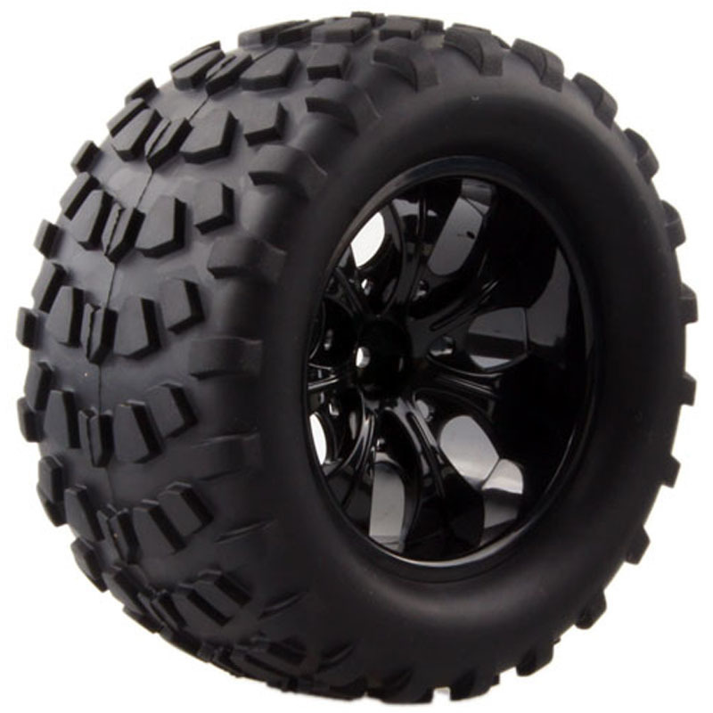 2pcs Wild Monster Truck Tires Rim Wheel For 1/10 Hex Hubs 12mm Scale RC Car HSP Off Road 94111 94108 94188 Traxxas Tamiya HPI 4pcs lot 2 2 rubber tires tyre plastic wheel rim 12mm hex for redcat exceed hpi hsp rc 1 10th off road monster truck bigfoot