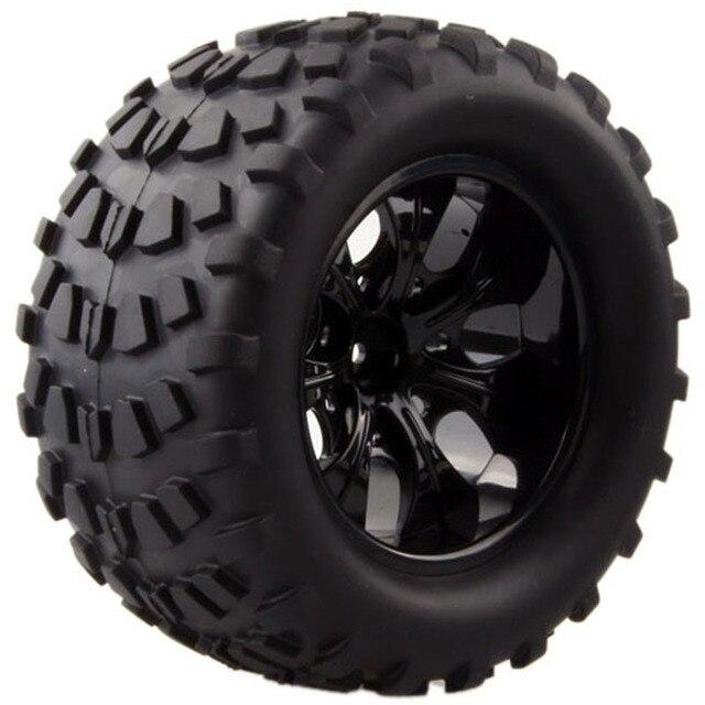 Monster Truck Tires >> 2pcs Wild Monster Truck Tires Rim Wheel For 1 10 Hex Hubs 12mm Scale