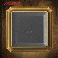 MVAVA Door Bell Switch Ring Push Bottom Luxury Bronzed Panel UK/EU Standard Free Shipping
