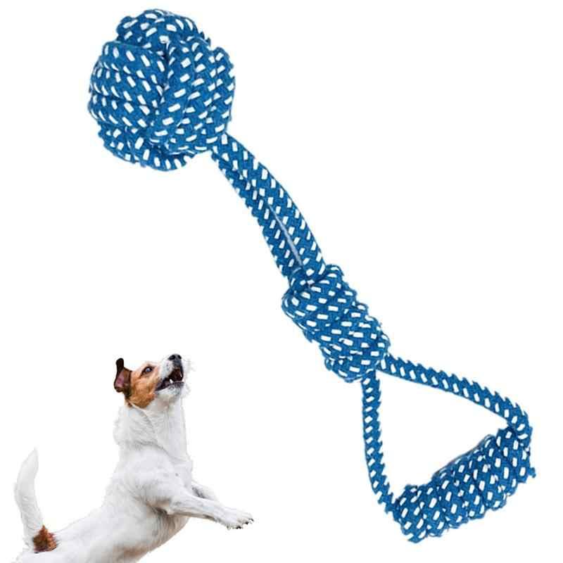 1pc Corda Cane Giocattolo Palla Nodo Puppy Chew Dentizione Giocattoli Pulizia Dei Denti Pet Per Le Piccole Medie Cani di Taglia Grande Giocattoli colore casuale