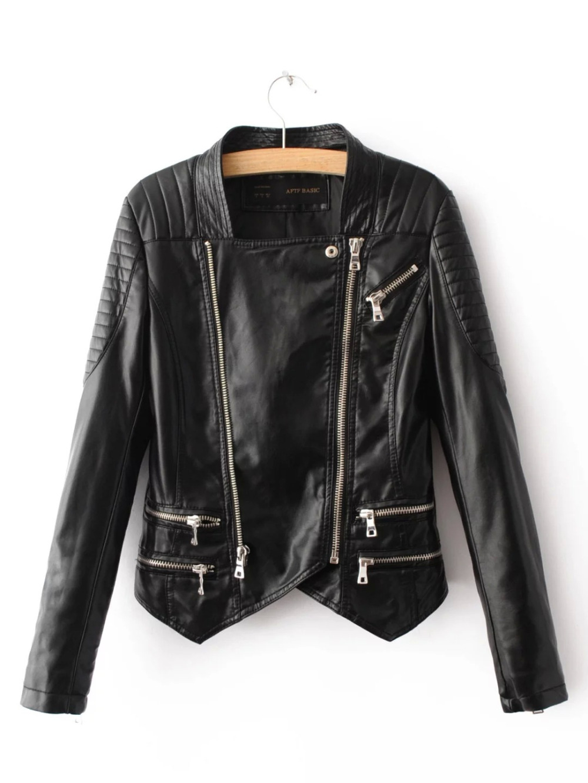 Leather jacket sale womens - Faux Leather Jacket Women Sale