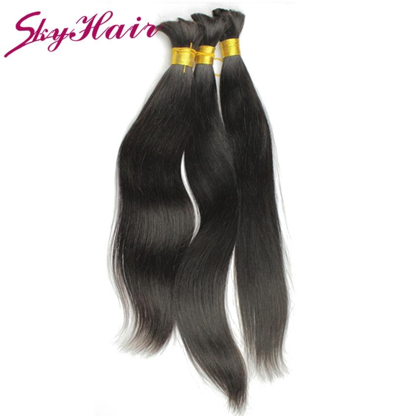 brazilian straight human braiding hair bulk 1pcs/lot 100g/pc 6a brazilian human hair for braiding bulk no attachment