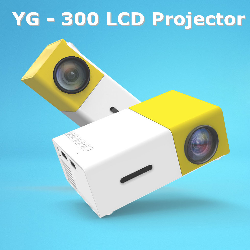 Yg300 yg 300 lcd projector 600lm 1080p mini portable hd for Portable lcd projector reviews
