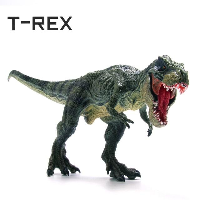 T-REX Realista Grande Dinossauro Figuras de Ação Brinquedo Modelo de Dinossauro Jurassic Park Tiranossauro Rex Do Mundo