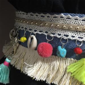 Image 4 - Ceinture Boho coquillages, bijoux pour femmes, chaîne de ventre, ethnique bohémien, danse