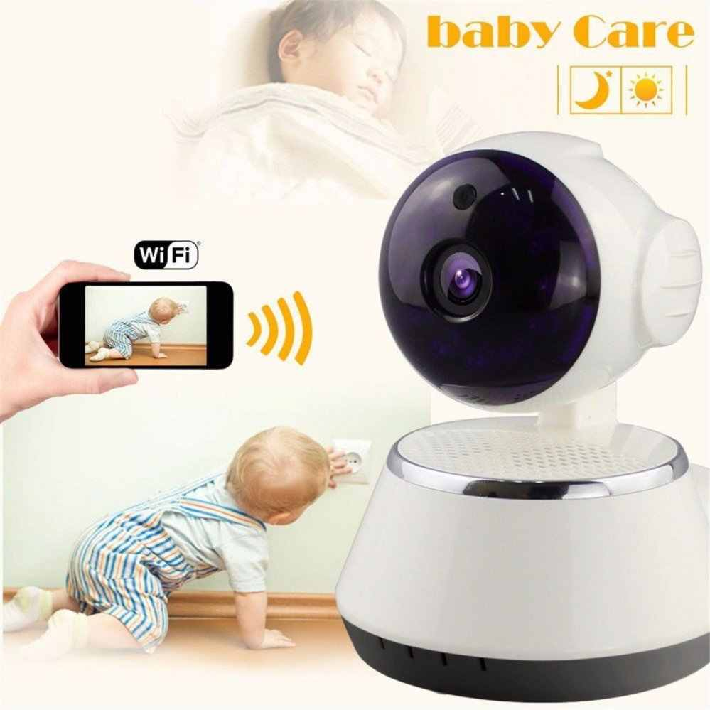 Wireless IP Camera WIFI 720P CCTV Home Security Cam Micro SD Slot Support Microphone & P2P Free APP ABS Plastic
