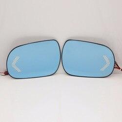 Niebieskie skrzydło szkło lustrzane podstawa podgrzewane kąt szerokokątny dowód lustro dla Toyota HiLux 2008-09 Fortuner 2008-13 Highland 2009-2014