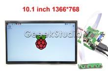 10.1 inch 1366*768 LCD Screen Display TFT Monitor for Raspberry Pi 3 / 2 Model B / B+ / A+ / B