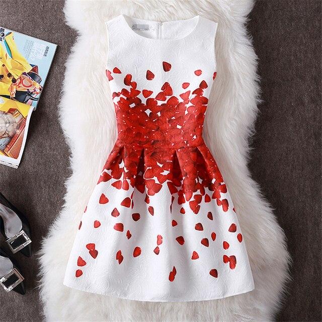 Summer Dress Women 2018 Elegant Casual Dresses Floral Print Vintage Jacquard A-line Short Party Dress Plus Size 5XL vestidos 3