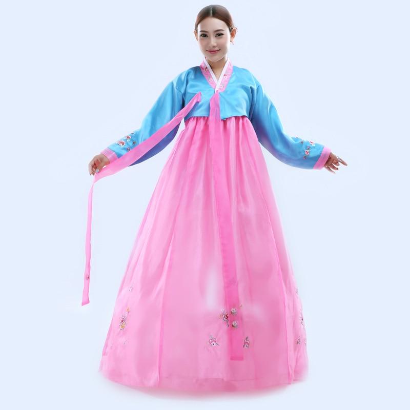 Robe traditionnelle coréenne broder les femmes Hanbok robe - Vêtements nationaux - Photo 3