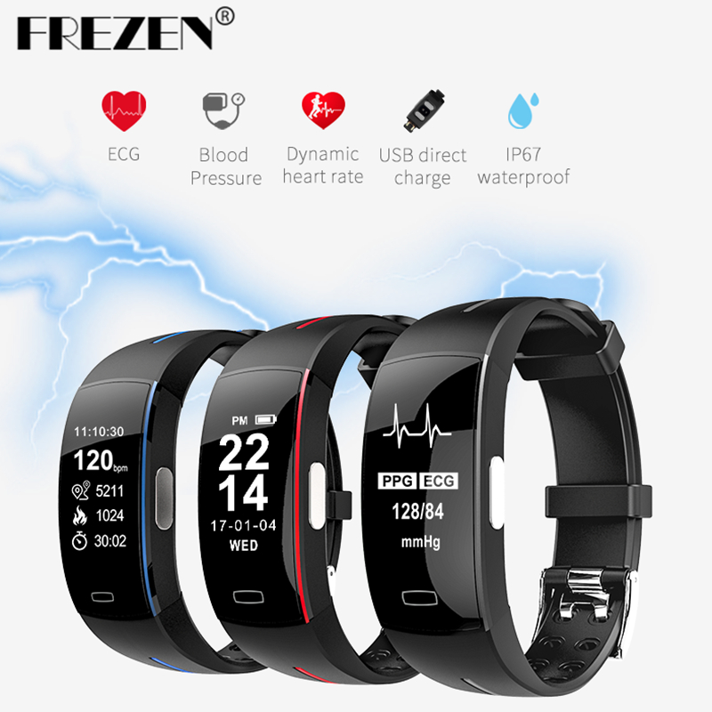 FREZEN NEW P3 Smart Band Support ECG PPG Blood Pressure Heart rate Monitoring IP67 waterpoof Pedometer