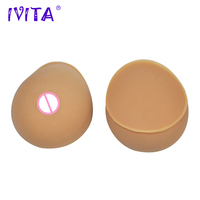 IVITA 2800g 1 Pair Suntan False Breast Forms Enhancer Realistic Silicone Fake Boobs For Crossdress Transgender