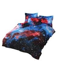 Galaxy Print Bedding 3d Outer Space Bedding Set Quilt Bed Pillow Duvet Cover Set Full Queen Twin King Size 3/4pcs|Bedding Sets| |  -
