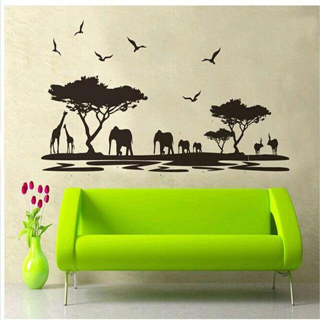 African Animals Wall Sticker