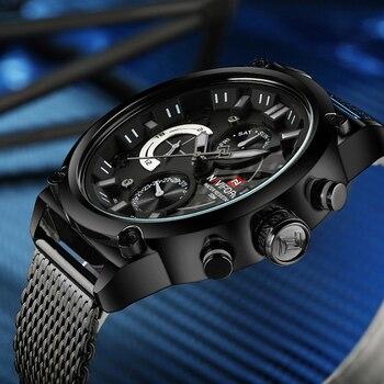 Luxury Brand Stainless Steel Quartz Watch Men Calendar Clock Sports Military 1