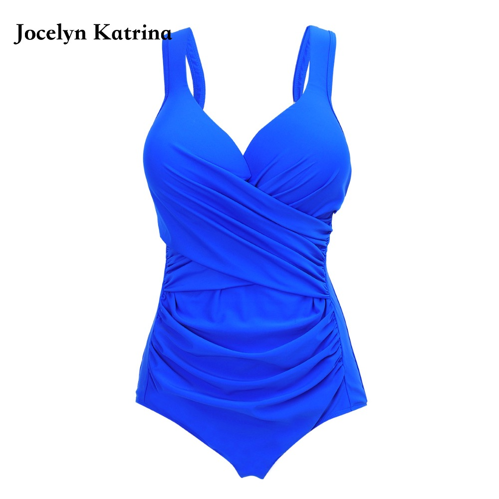 Jocelyn Katrina Womens Swim Wear Plus Size One Piece Swimsuit Women Sexy Vintage Bathing Suits Big Size Swimwear Size XL~5XL