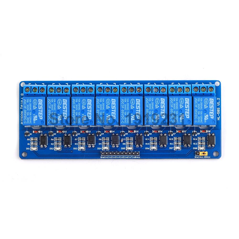 1Pcs 8 Channel 5V Relay Module with Optocoupler For Ard uino PIC ARM AVR DSP