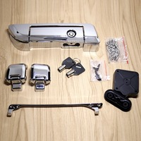 Chrome Tour Pak Trunk Lid Latches With Tether For Harley Touring Street Glide Road King 2014 2015 2016 2017