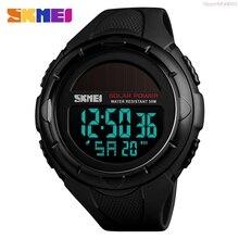 SKMEI Solar Power Watch Outdoor Sports Mens Wristwatch Luminous Digital Watch Ch