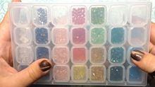 Инструменты для дизайна ногтей фотоемкость прозрачная пластиковая
