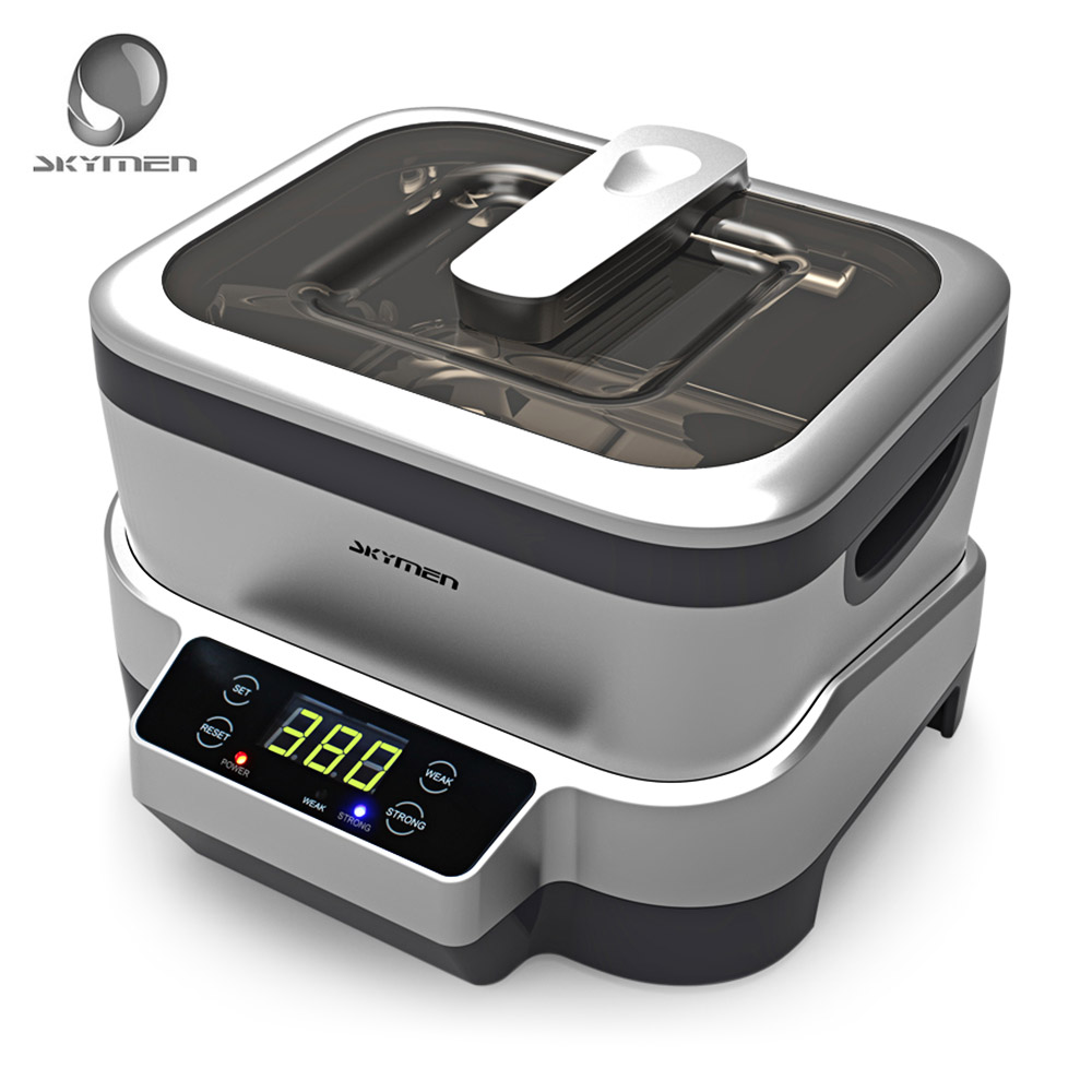 SKYMEN Digital 1.2L Ultrasonic Cleaner Stainless Steel Sterilizing Nail Tools With Degas Heating Timer Bath Ultrasound Washer 15l stainless steel digital ultrasonic cleaner with timer and heater including washing basket