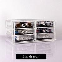 Tiroir Type Acrylique Transparent Maquillage Cosmétique Organisateur Cristal En Plastique Bijoux Boîte De Rangement De Bureau Spécial De Noël Cadeau