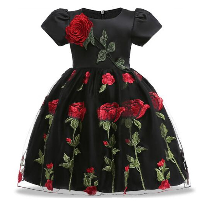Summer Children Dresses For Girls Kids Embroidery Lace Princess Dress For Girl 2 3 4 5 6 7 8 9 10 Years Birthday Party Dress стоимость