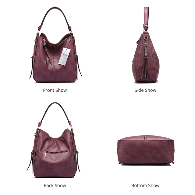 REALER women handbags female Crossbody shoulder bags high quality PU leather messenger bags for ladies big Totes large capacity 2