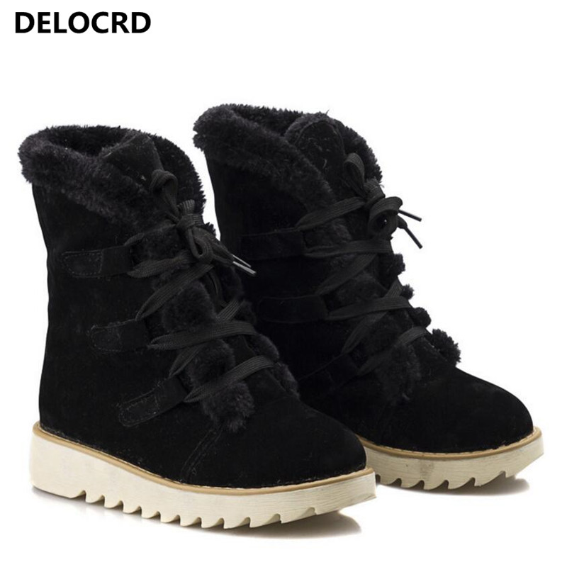 Women's Snow Boots Thick Wool Warm With Cotton Shoes Plus Size Women's Boots Ladies Fashion Casual Shoes winter Casual Sneaker 74