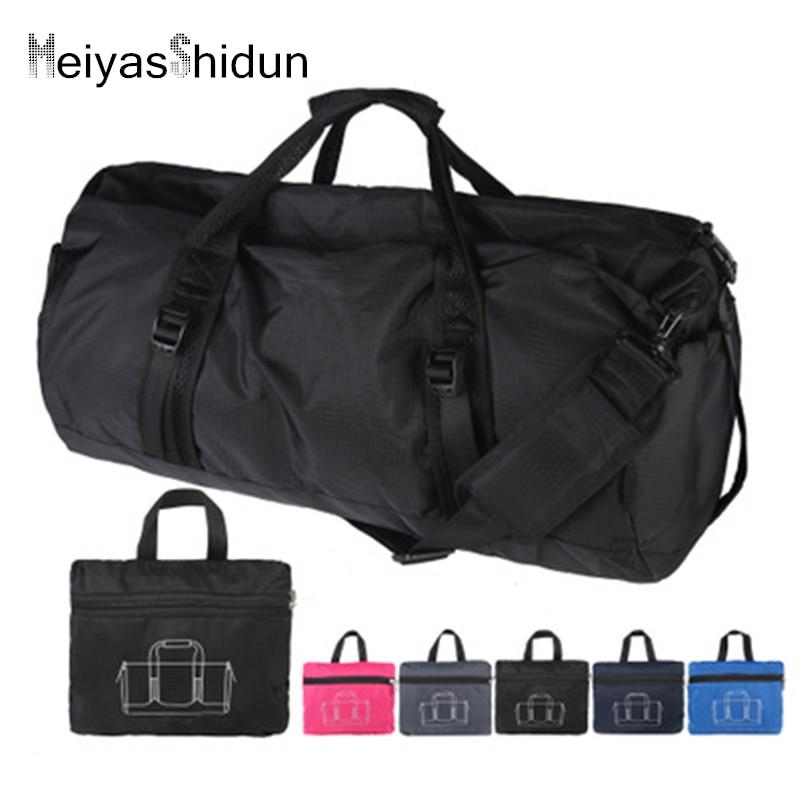 Portable Folding Travel Handbag Women Weekend Duffle Bags Men Overnight Carry On Luggage Bag Ladies Tote Package Bolsa Viaje Sac