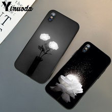Yinuoda Glowing rose in the dark Beautiful Phone Accessorie Case for Apple iPhone 8 7 6 6S Plus X XS MAX 5 5S SE XR Mobile Cover