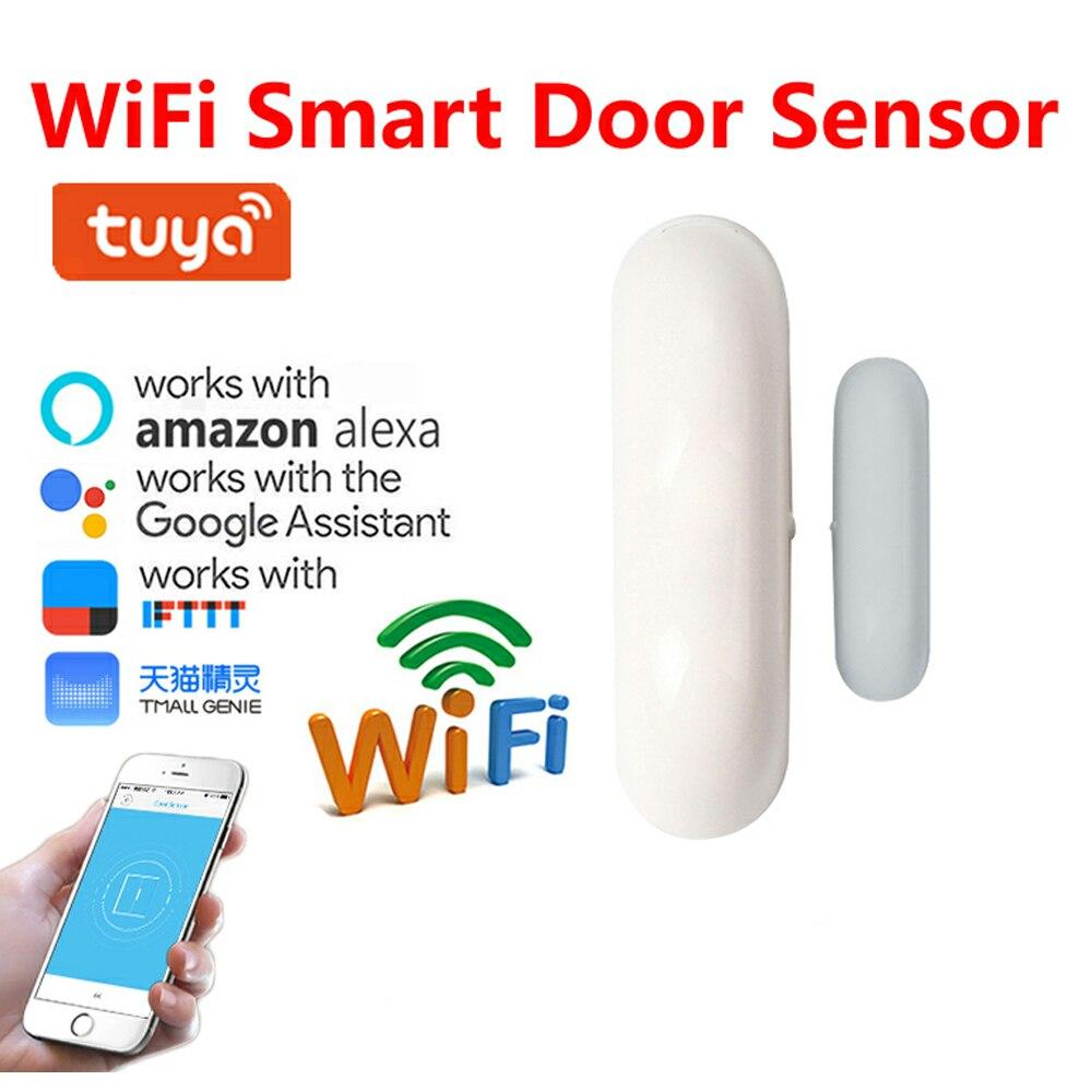 Domu czujnik drzwi okien WiFi powiadomienia o aplikacjach na baterie czujnika bezpieczeństwa w domu