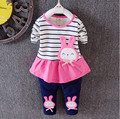 2016 spring and summer new children's clothes set baby cotton suit baby girl cartoon two piece set