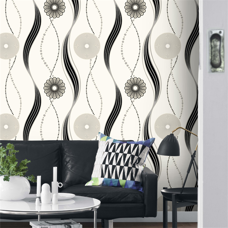 Beibehang papier peint chaud et vert géométrique cercle courbe motif salon TV fond mur papier peint intissé