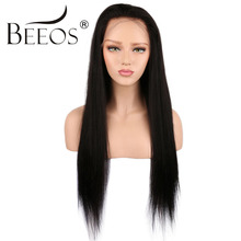 BEEOS 26 28 Full Lace Human Hair font b Wigs b font Glueless font b Brazilian