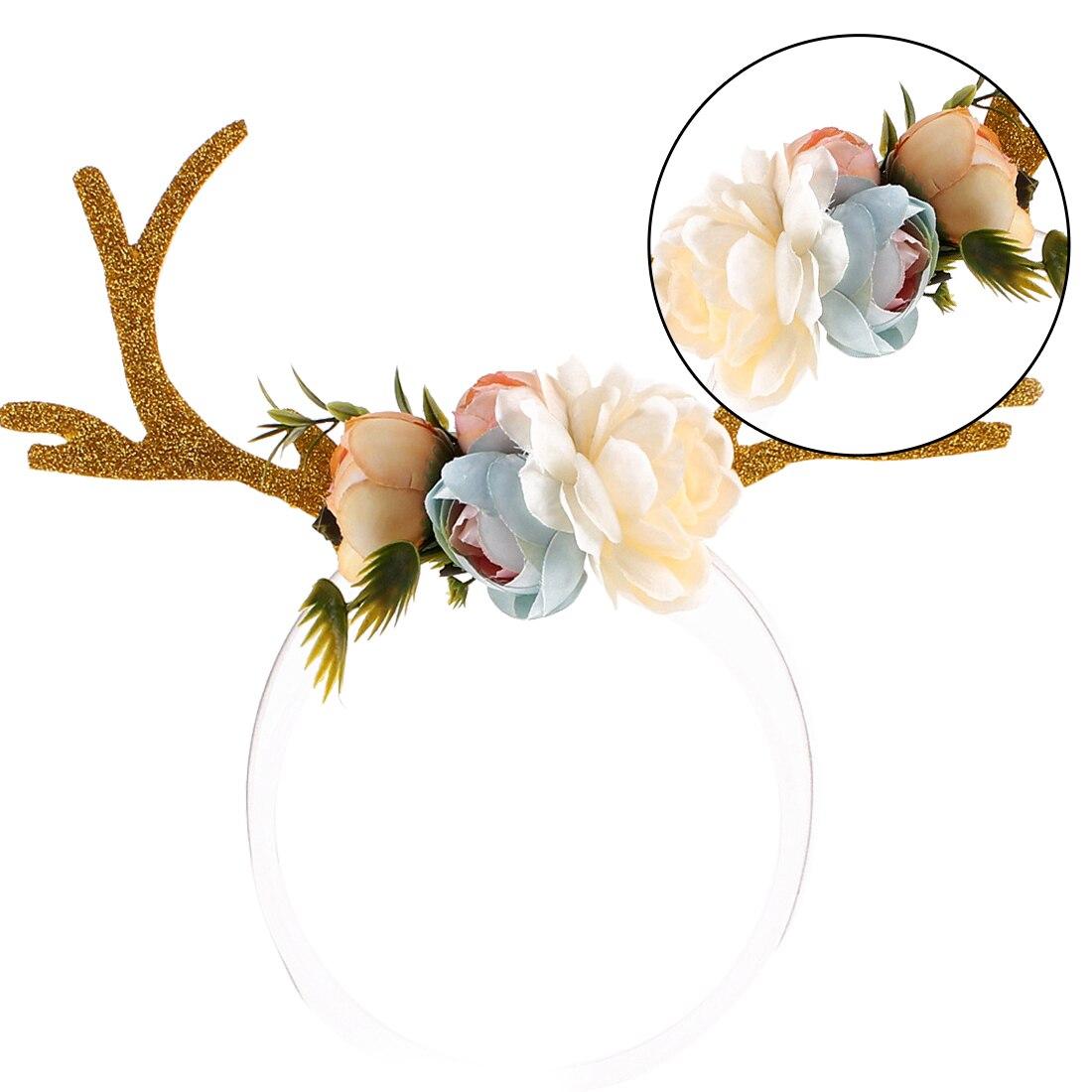 Charming Headband Gift Women Girls Christmas Deer Antlers Costume Ear Party Hair Floral Hairband