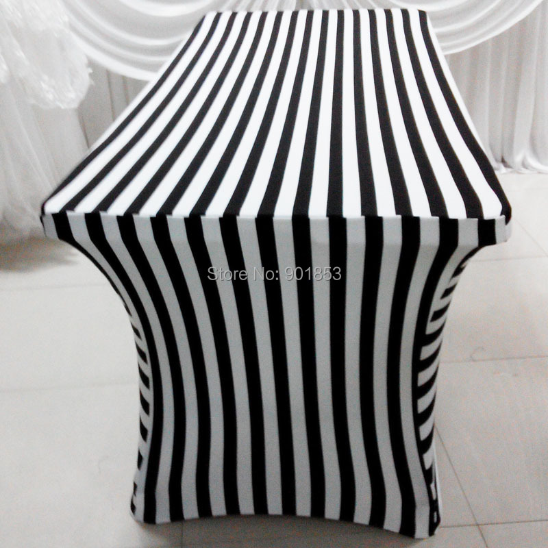 6FT Stripe Spandex Table Cloth 5 PCS Free Shipping Black And White Stripe  Table Cover Lycra Table Cloth In Tablecloths From Home U0026 Garden On  Aliexpress.com ...