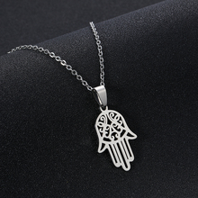 Arabic Soy Luna Hamsa Hand Pendant Necklace for Women/Men Amulet Stainless Steel Hand of Fatima Choker Arab Jewelry Gift soy luna live barcelona